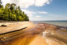Scenic View Of Empty Beach