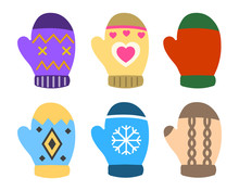 Collection Of Color Mittens Wi...