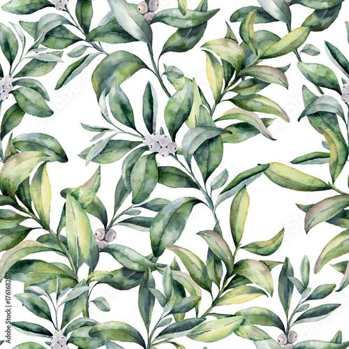 akwarela-zima-kwiatowy-wzor-recznie-malowana-galaz-snowberry