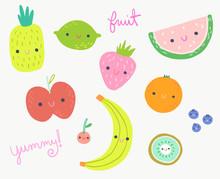 Cute Fruit Clip Art Collection