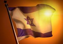 Winner Waving Israel Flag Agai...