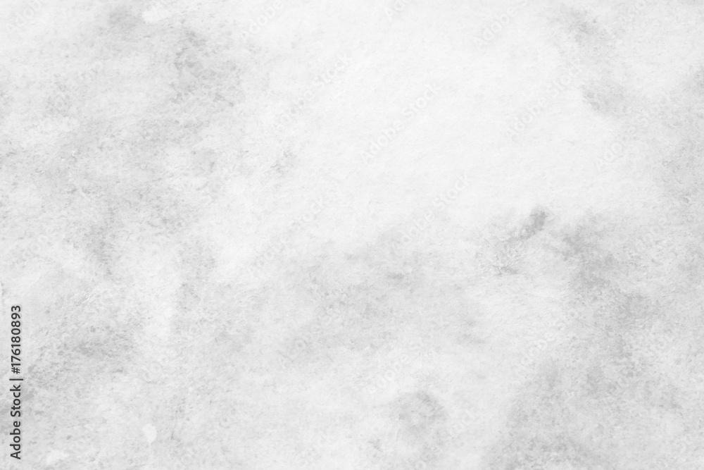 Fototapety, obrazy: Gray abstract watercolor painting textured on white paper background