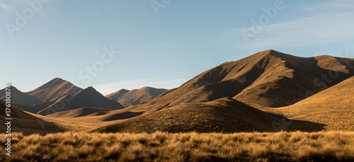 Fototapeta Lindis Pass, New Zealand.
