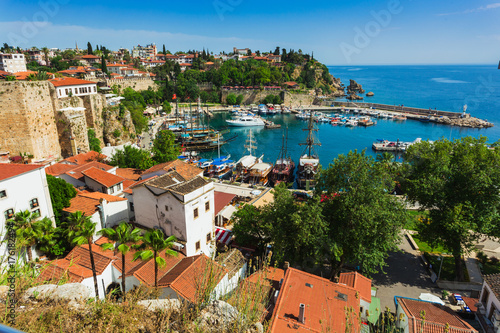 The ancient port of the old city of Antalya Canvas Print