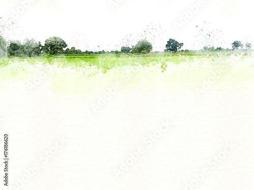 Abstrakcjonistyczny Kolorowy drzewa i krajobrazu drzewo na akwarela obrazu tle.
