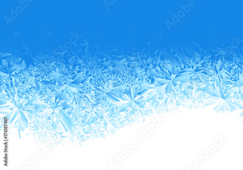 Winter blue ice frost background Fototapeta