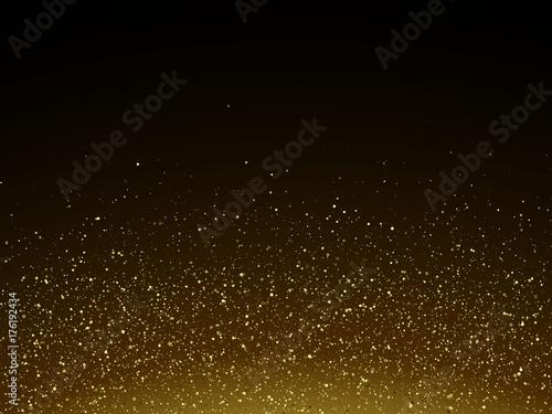 Cuadros en Lienzo Vector particles golden dust, shimmering glitter texture