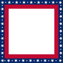 USA Flag Frame With Copyspace ...