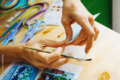 Cuadros en Lienzo making of scrapbook greeting card,