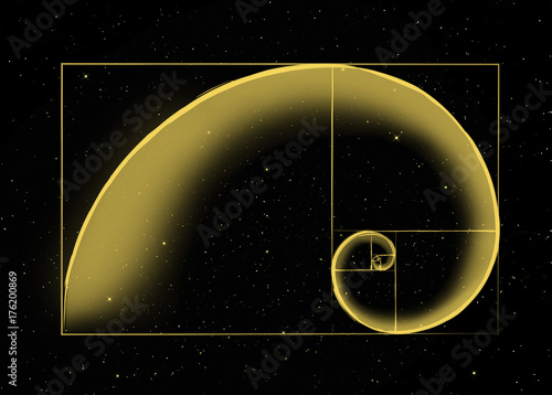 Photo The Universal Architecture / The Golden Spiral representing Sacred Geometry