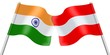Flags. India and Austria
