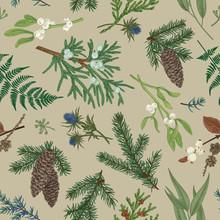 Christmas Seamless Botanical P...