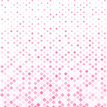 Abstract Halftone Pink Square Pattern Background, Vector Modern Futuristic Texture For Posters, Sites, Cover, Business Cards, Postcards, Interior Design, Labels And Stickers. Vector Illustration