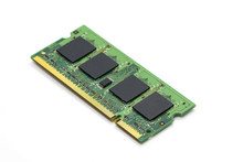 Image Of A Ram Memory On A Whi...