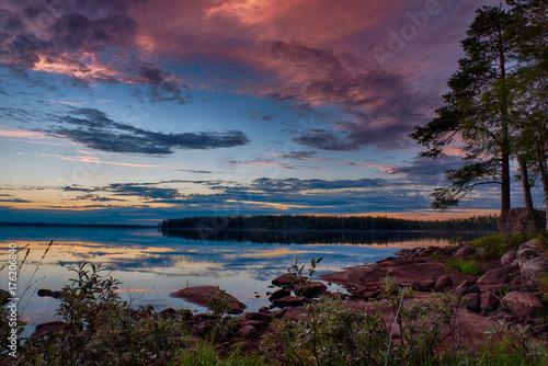 Fototapeta Spokojna scena jeziorna