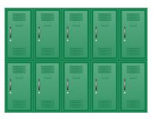 Metallic Lockers Stock Vector Illustration