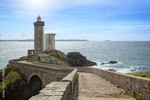 Montage in der Fensternische Leuchtturm Lighthouse Phare du Petit Minou in Brittany