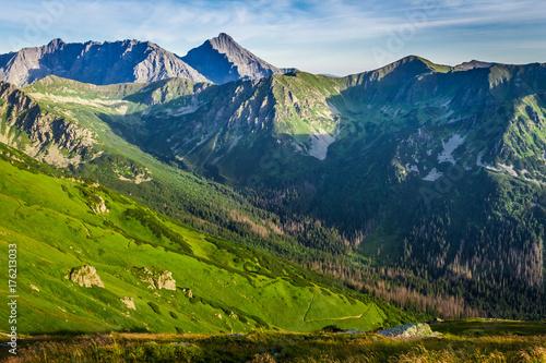 Zdjęcie XXL Cudowny zachód słońca w Tatrach w Polsce, Europie
