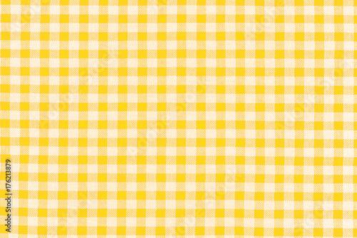 Fotobehang Stof tissu à petits carreaux vichy jaune