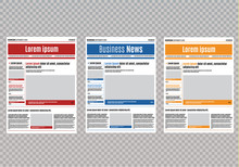Newspaper Design Template With...