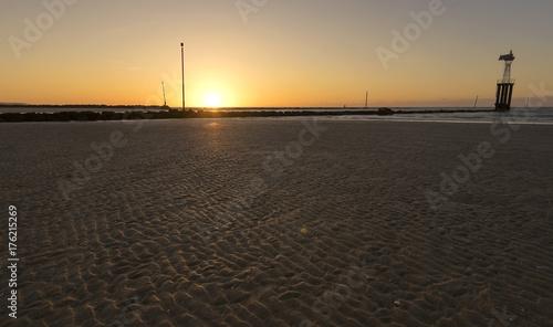 Spoed Foto op Canvas Zee zonsondergang Beach
