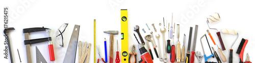 Fotografia Various tools on white background