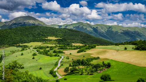 Beautiful mountain view in Umbria in Italy, Europe Wallpaper Mural