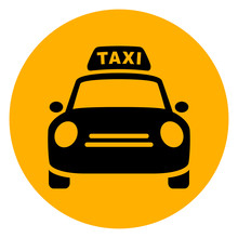 Taxi Circle Yellow Icon