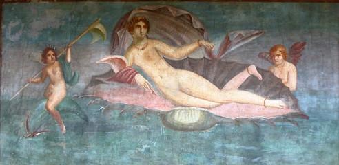 Fototapeta Pompeii, Italy: fresco