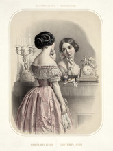 Old Illustration Depicting Wom...