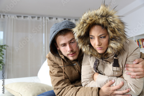 Cold home with an angry couple