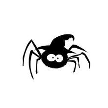 Black Silhouette Of Spider In ...