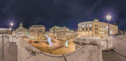 Obraz na dibondzie (fotoboard) Wiedeńska Opera Państwowa (Panorama)