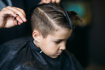 Little Boy Getting Haircut ...