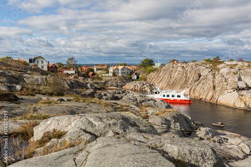 Staande foto Stockholm Landsort, old fishing village in Stockholm archipelago.