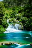 Fototapeta Landscape - Wasserfall im Krka Nationalpark