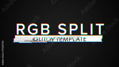 RGB Glitch Titles Pack  Buy this stock template and explore