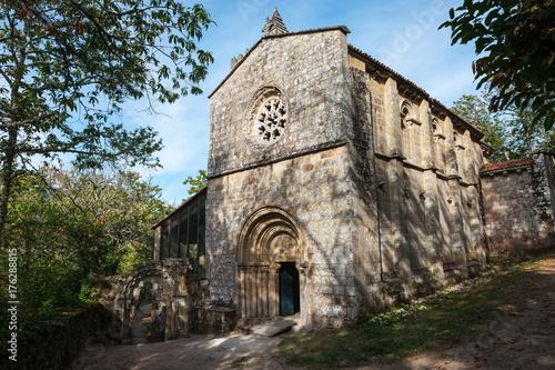 Facade of Santa Cristina de Ribas de Sil monastery