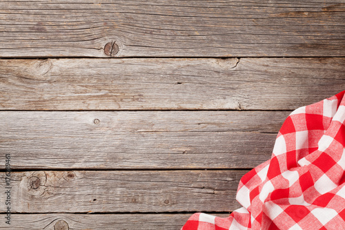 Kitchen towel on wooden table