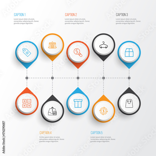 Fotografia, Obraz  Commerce Icons Set