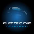 voiture électrique logo template illustration