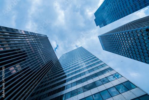 Fotobehang Aan het plafond Urban Skyscrapers