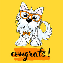 Vector Illustration Of A Dog Y...