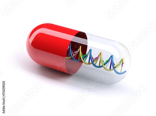 medical capsule with DNA Fototapeta