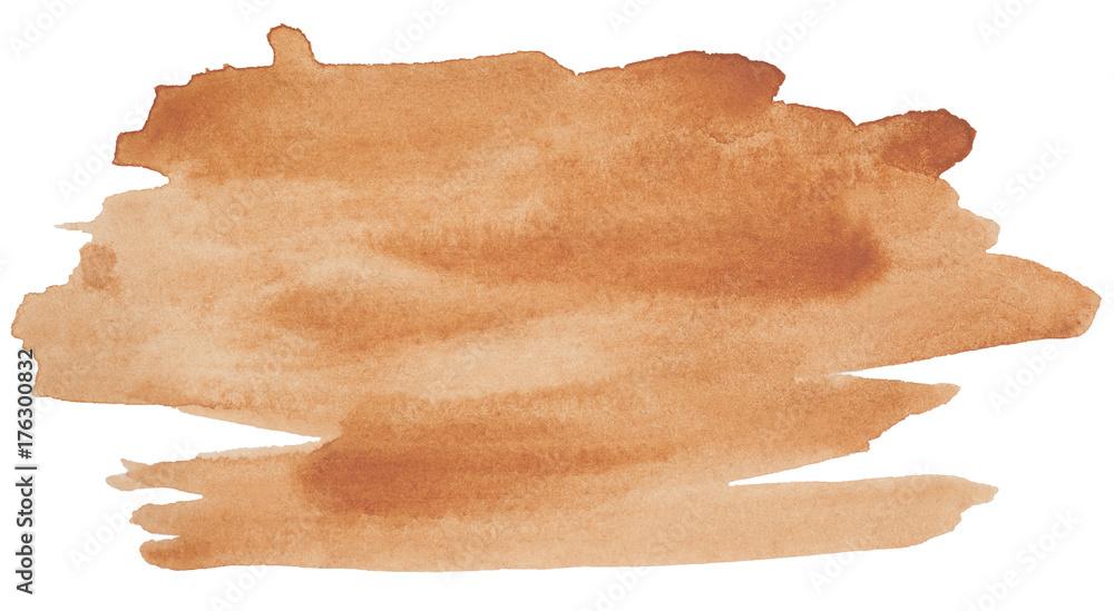 Fototapeta watercolor stain, brown for design