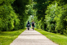 Young Couple On A Bike Ride In...