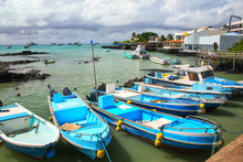 Boats Anchored At Puerto Ayora...