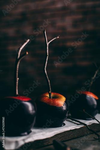 Foto op Aluminium Vruchten Halloween caramel apples