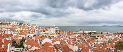 Obraz na dibondzie (fotoboard) Pejzaż miejski architektura Panoramiczny Plenerowy widok Portas robi Sol punkt widzenia, Lisbon Portugalia