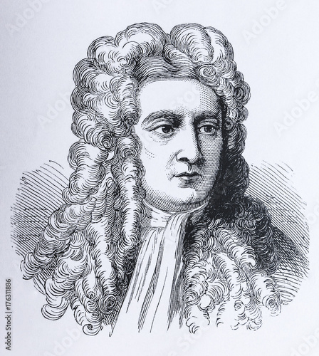 Photo Portrait of the scientist Sir Isaac Newton